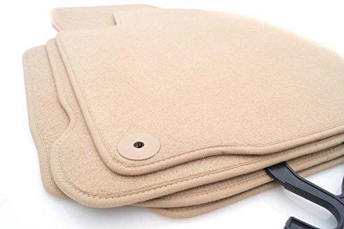 kh Teile Fußmatten/Velours Automatten Original Qualität Stoffmatten 4-teilig beige