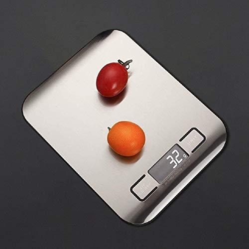 Balance De Cuisine,5Kg Balance De Cuisine Ménage Alimentaire Cuisson Électronique Échelle Échelle Plate-Forme En Acier Inoxydable Outil De Mesure Avec Affichage Lcd Pour Utiliser Des Outils Bijoux