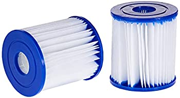 Bestway Size I Filter Cartridge for Pools Blue/White 3.1 x 3.5 Inch Twin Pack