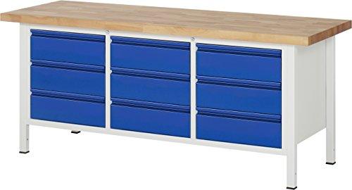 Rau Werkbank 8574 | 4-Fuß Schweißgestell | BxHxT 2000 x 700 x 840 mm | Buche