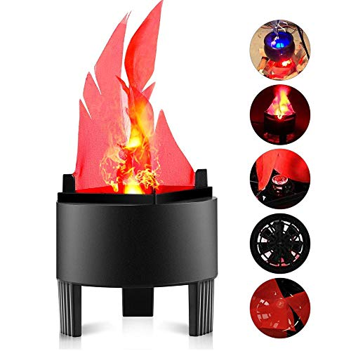 3D Fake Fire Light, Artificial LED Silk Flame Stage Effect Light Realistic 3D Campfire Lamp Prop...