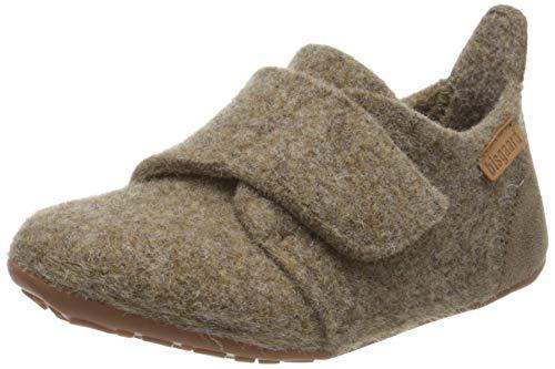 Bisgaard Unisex-Kinder Wool Niedrige Hausschuhe, Braun (Camel 46), 29 EU