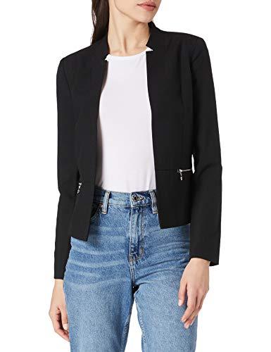 Only ONLMADDY-KOMA LS Short Zip Blazer CC TLR, Black, 42 para Mujer