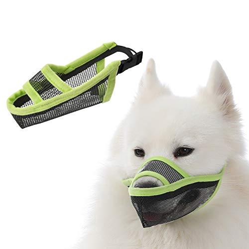 TANDD Bozal para perros pequeños, medianos y grandes, malla de aire transpirable y potable para mascotas bozal antimordeduras