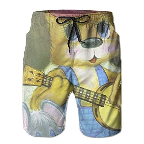 Hlcenng Watercolor Pumpkins Pattern Womens Beach Shorts Dry Fit Swim Trunks