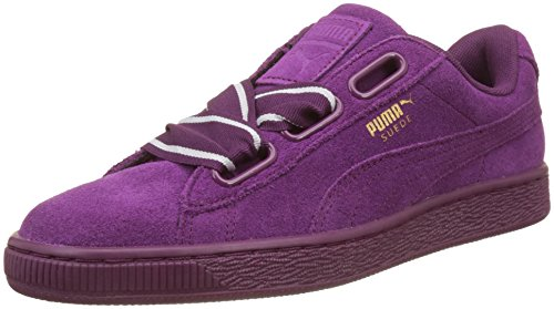 PUMA Suede Heart Satin II, Scarpe da Ginnastica Basse Donna, Viola (Dark Purple-Dark Purple), 36 EU