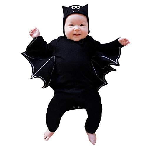 Allence Baby Halloween Kleidung,Niedlich Kleinkind Neugeborenes Baby Jungen Mädchen Halloween Cosplay Kostüm Strampler Hut Bat Outfits Set