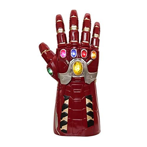 NUWIND Guante de Iron Man con Luz Infinito Gauntlet LED de los Vengadores Infinity War Disfraz de Cosplay Halloween Prop Adulto