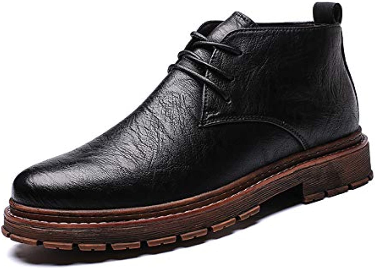 LOVDRAM Men'S shoes Leather shoes Men'S Increased Autumn New Men'S Business Casual shoes Youth Fashion Platform shoes
