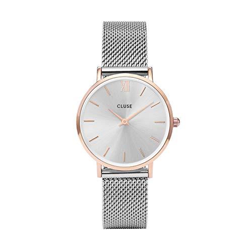 Cluse Damen Armbanduhr Analog Quarz Edelstahl CL30025