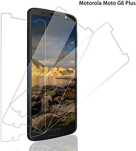 Schutzfolie für Motorola Moto G6 Plus Panzerglas, [3 Stück] 9H Festigkeit Panzerglasfolie Bildschirmschutz für Moto G6 Plus, Anti-Kratzen Schutzglas, Ultra Klar, Bläschenfrei, Moto G6 Plus Bildschirmschutzfolie