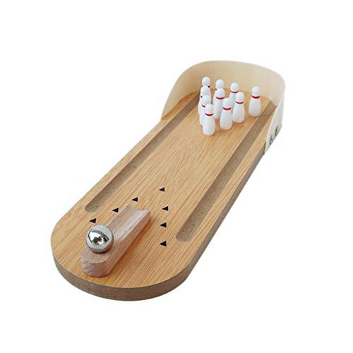 Koobysix Bird Supplies Spielzeug für Papageien und Vögel aus Holz, Mini-Schreibtisch-Bowling-Sittiche, Intelligenz-Training, Geschenk für Ihren Vogel