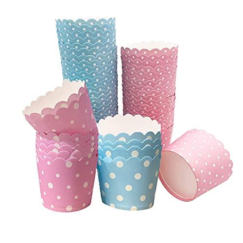 Muffin Förmchen Papier, 100 Stück Cupcake Formen Papier Muffinförmchen Cupcake Formen Papier, Kuchenkörbchen für Backtage, Geburtstage, Cupcake Formen