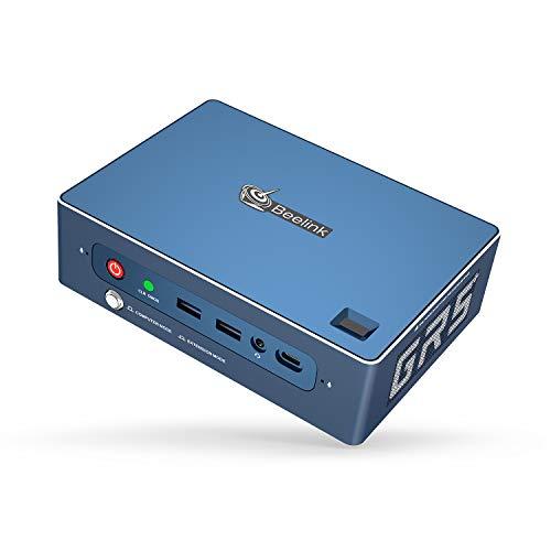 Beelink GTR Pro Mini PC Windows 10 Pro, AMD Ryzen 5 3550H Processor, 16GB DDR4 512GB SSD 1TB Quadruple Display Desktop Computer, Fingerprint Login in Gaming Working Mini PC