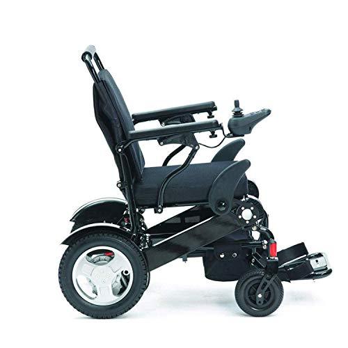 LLPDD elektrische rolstoelen, lichtgewicht aluminiumlegering, elektrische rolstoel, draagbare doorrijd-reisstoel, opvouwbare rolstoel, voor binnen en buiten, lithiumbatterij