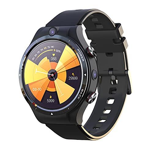 Montloxs Reloj Inteligente(Tarjeta Nano SIM) Llamada Independiente 4G Pantalla IPS de 1.6' Resolución 400 * 400 Sistema Android 10.7 Procesador de Ocho núcleos 4GB RAM + 128GB ROM 5.0MP +