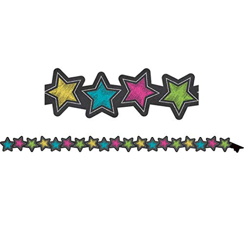 Teacher Created Resources Chalkboard Brights Stars Magnetic Border (TCR77313)