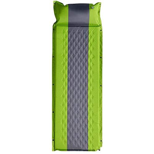 XINXI-MAO Camping-Tools. Selbstaufblasende kompakte Schaum-Spleißzelt-Matte mit angebrachtem Kissen Leichte aufblasbare Luftmatratze im Freien wasserdichte einzelne Camping-Isomatte