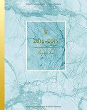 Agenda 2018-2019: Agenda Scolaire d' Août 2018 à Juillet 2019, Semainier simple, motif marble or et bleu (S'organiser au quotidien) (French Edition)