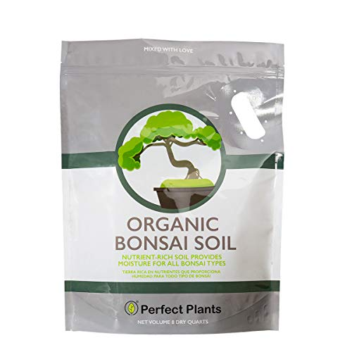 Bonsai Soil by Perfect Plants - 8qts. Premium All-Purpose Mix | Perfect for Several Bonsai Tree Plants | Made in Small Batches in The USA