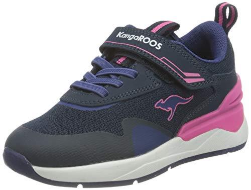 KangaROOS Unisex-Kinder KD-Gym EV Sneaker, Dark Navy/Fandango Pink 4294, 30 EU