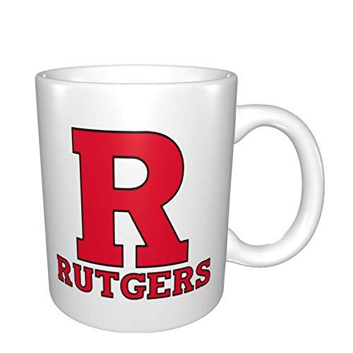 Rutgers Scarlet Knights Bright Multi Grandes tazas de porcelana para café, té, cacao tazas de cerámica de 325 ml