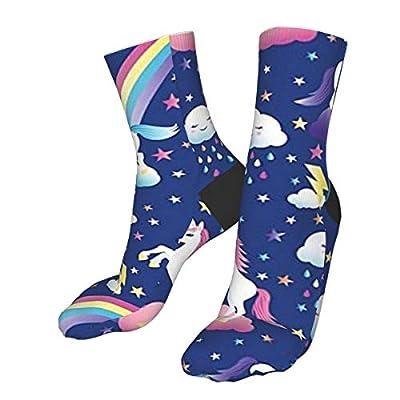 Unicornio arco iris senderismo tripulación calcetines para mujer calcetines para hombre suave grueso acogedor cálido casual compresión calcetines