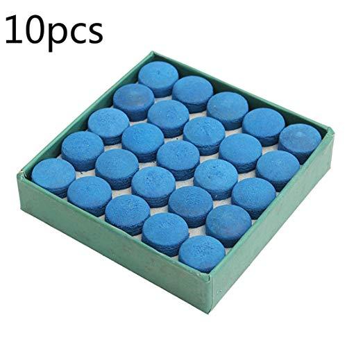 Liushui 50 stuks lijmen zwembad billiards Cue Tips Box Game Sport Leer Blauw 9 mm 10 mm 13 mm - 13 mm