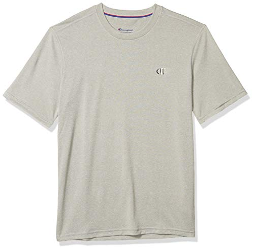 Champion Men's Double Dry Tee, Oxford Gray, Small