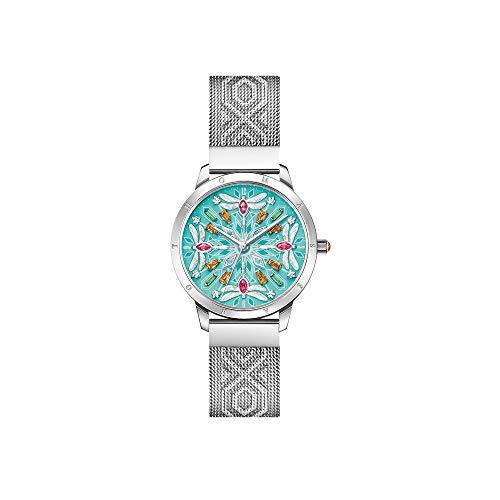 Thomas Sabo Damen Analog Quarz Uhr mit Edelstahl Armband WA0368-201-215-33 mm