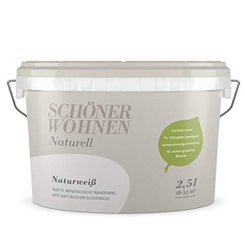mächtig Schöne Viva Mineral Wandfarbe Natural White 2,5 Liter