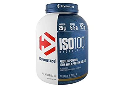 Dymatize Nutrition ISO-100 Whey Protein, Gourmet Chocolate, 2200 g