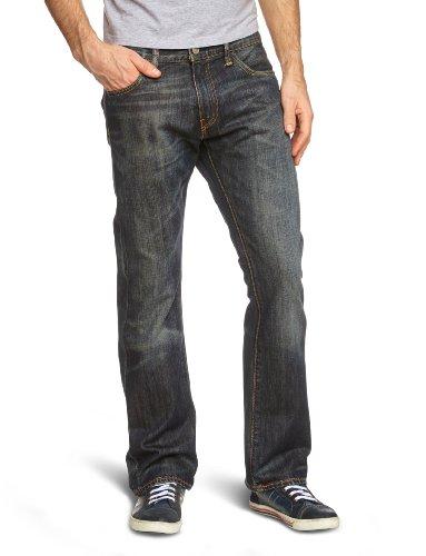 Levi's 527 Slim Boot Cut, Vaqueros Corte de Bota para Hombre, Negro (Dusty Black 0015), 38W/32L