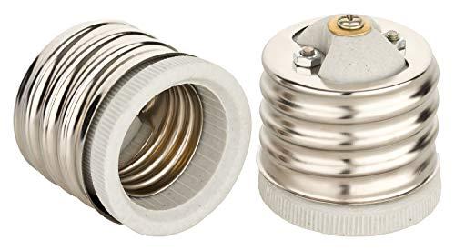 E40 auf E27 Adapter Fassungsadapter für E27 Leuchtmittel und E40 Fassung Edison Gewinde RoHS bis 250V und 4A von ISOLATECH; (hier: 2 Stück)