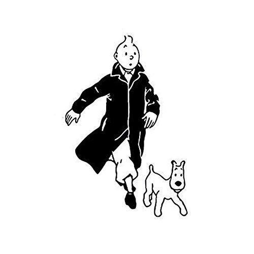 Smntt Tim Und Struppi Mit Hund Cartoon Vinyl Wandaufkleber Kinderzimmer Wand Kunst Wandtattoo Tintin Vinyl Poster Wall Art Decor