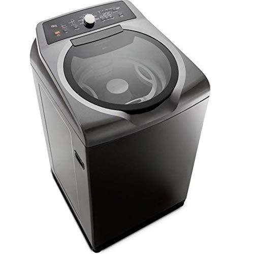 Máquina de Lavar Brastemp 15kg Double Wash Grafite Metálico com Ciclo Edredom - 110V