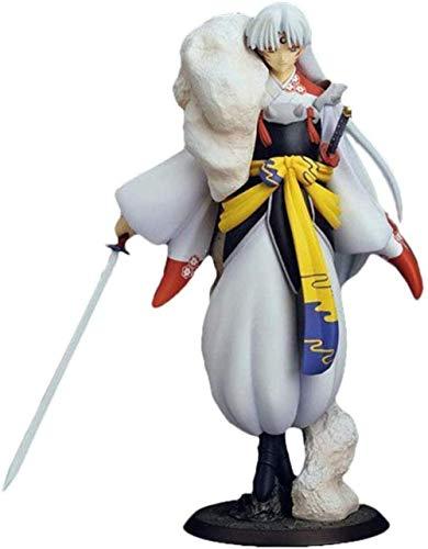 KIJIGHG Figura de Anime Sesshoumaru Anime Inuyasha Figura de PVC Figura de Anime Figuras de accion Modelo de Personaje de Anime