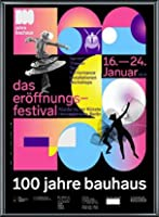 ポスター バウハウス 100 Jahre Bauhaus Festival 2019 Black 額装品 アルミ製ベーシックフレーム(ブラック)