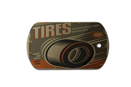 Hundemarke Erkennungsmarke Oldtimer Auto Reifen bedruckt
