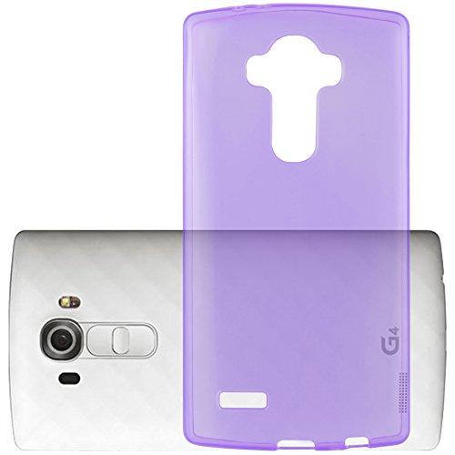 Preisvergleich Produktbild Cadorabo Hülle für LG G4 PRO - Hülle in TRANSPARENT LILA Handyhülle aus TPU Silikon im Ultra Slim 'AIR' Design - Silikonhülle Schutzhülle Soft Back Cover Case Bumper