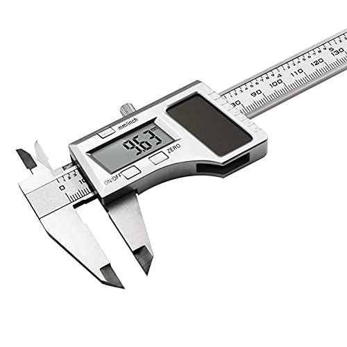 ZZHJYD CLKCGYG Potencia Solar Vernier Calibrador Digital 150 mm de 6'Pulgadas de Fibra de Carbono Compuesto Caliper Digital Mini calibradores Playe la medición de la joyería