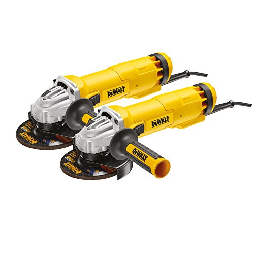 DeWalt DWE4237KXL-QS haakse slijper 125 mm 1400 Watt dubbelset, 1400 W, 230 V