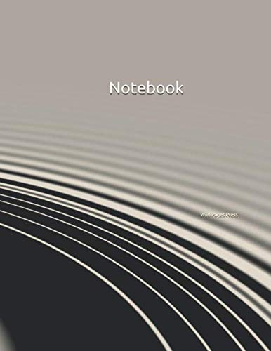 """Notebook: Wellness Design Large Notebook 8.5"""" x 11"""" Softcover 100 Ruled Pages"""