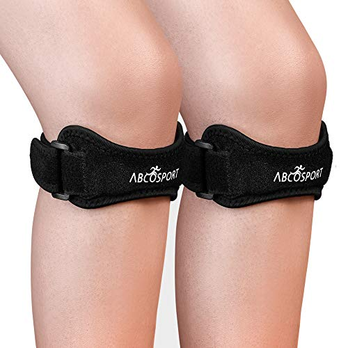 Patella Knee Strap 2 Pack - Knee Pain Relief - Tendon and Knee Support for...