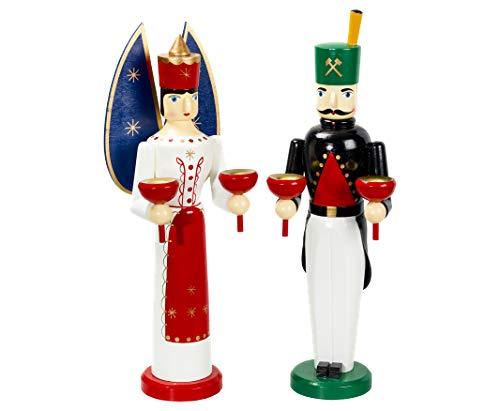 Kunstgewerbe Schulte Engel und Bergmann Weihnachtsengel 28 cm Holz gedrechselt handbemalt
