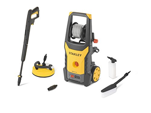 Stanley 14142–Hochdruckreiniger (1800W, 135bar, Motor Universal mit Mini Innenhof und Bürste starr