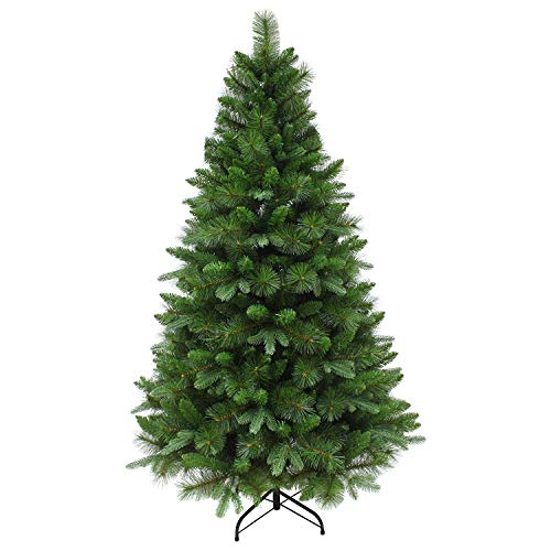 Kaemingk CHRISTOW Artificial Christmas Tree Traditional Green Pine with Stand 5ft 6ft 7ft, (180cm)
