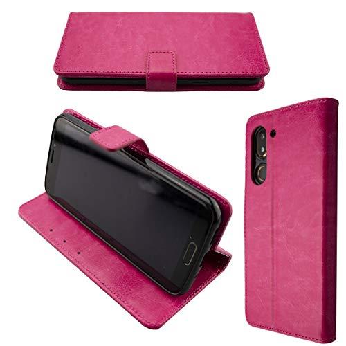 caseroxx Tasche für Doro 8080 Bookstyle-Hülle in pink Cover Buch
