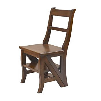 Carolina Chair & Table Benjamin Library Ladder Chair Chestnut
