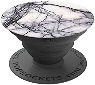 Popsockets White Marble Smartphone Grip, Universal, for Most Smartphone